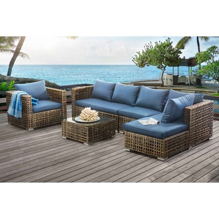 Sunnest Kyle Small Spaces Woven Modular Patio Set