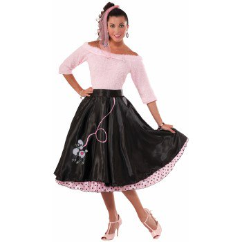 50'S POODLE SKIRT-BLACK (50's Costumes For Halloween)