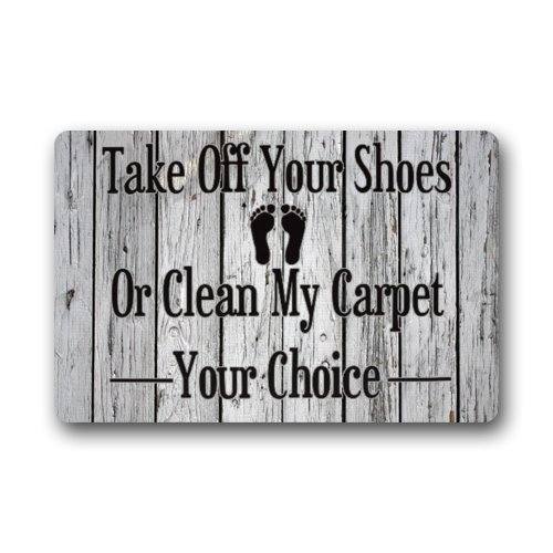 Charming WinHome Take Off Your Shoes Or Clean My Carpet Your Choice Doormat Floor  Mats Rugs Outdoors