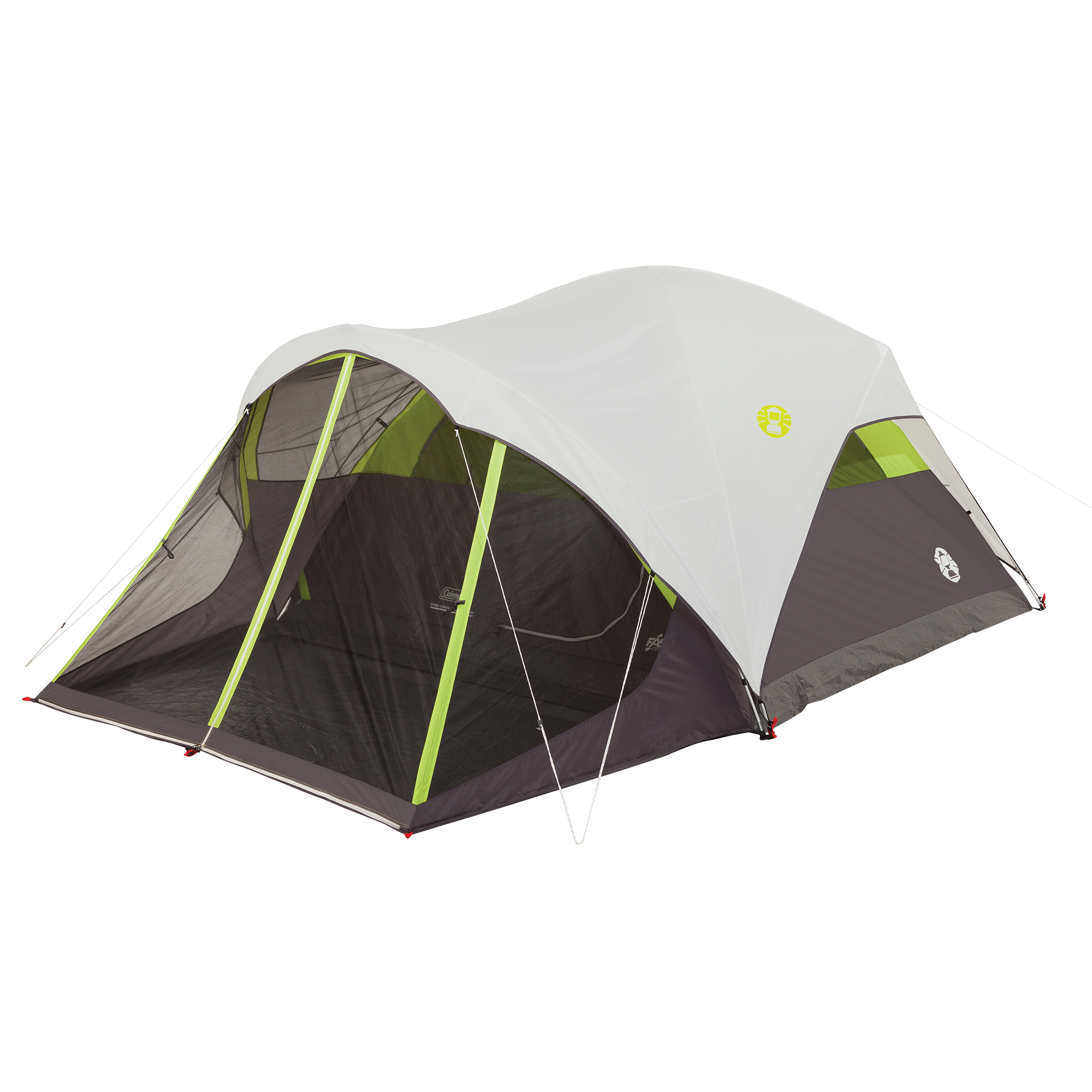 Coleman Steel Creek Fast Pitch 6-Person Dome Tent with Screen Room by COLEMAN