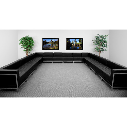 Flash Furniture Hercules Imagination Series 16-Piece Sectional Configuration in Black