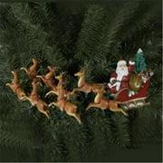 Kurt S. Adler, Inc. UL1861 Kurt Adler UL 10-Light Santa Sleigh and Eight Reindeer Light Set
