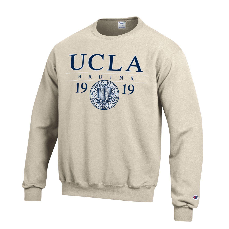 UCLA Bruins Champion Men's Sweatshirt-Oatmeal