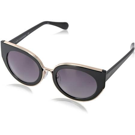 diane von furstenberg  norah cat eye women's black frame purple/grey lens (Diane Von Furstenberg Sunglasses)