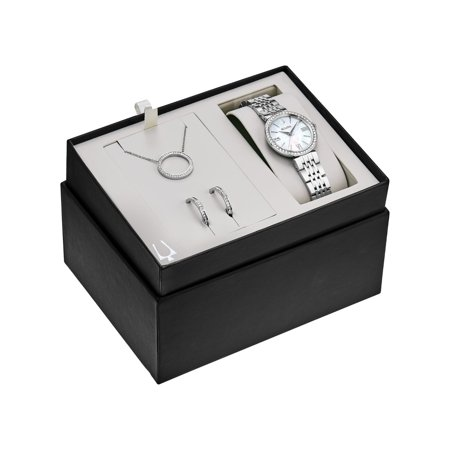 Bulova Womens Crystal Watch, Necklace and Earrings Set