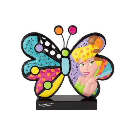 Romero Britto Heart (Romero Britto Disney Butterfly Tinker Bell Tink Pop Art Figurine 6001008)
