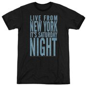 Saturday Night Live Its Saturday Night Mens Adult Heather Ringer Shirt