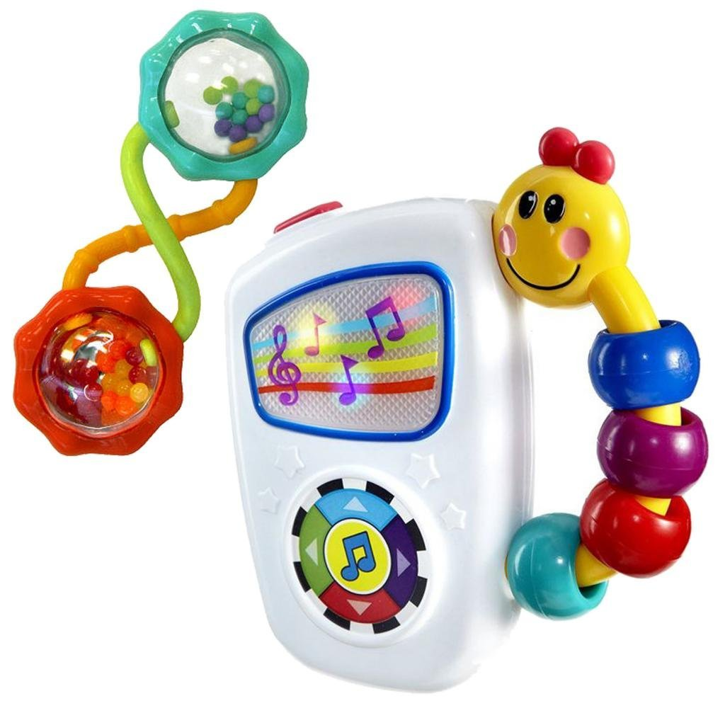Baby Einstein Take Along Tunes Musical Toy & Rattle and Shake Barbell by Baby Einstein