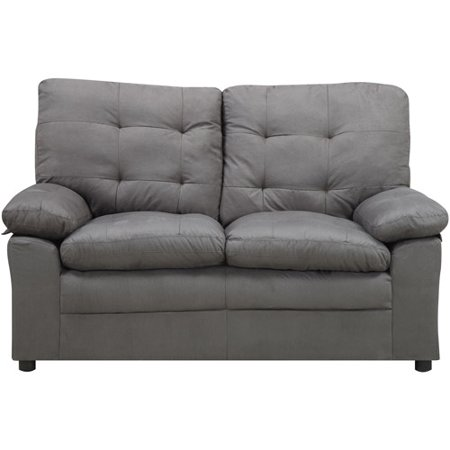Buchannan Microfiber Loveseat Black Gray Beige Sofa Furniture Living Room Couch Ebay
