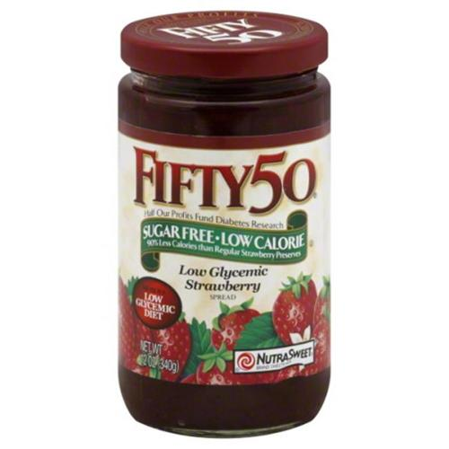 Fifty 50 Spread, Strawberry, Low Glycemic