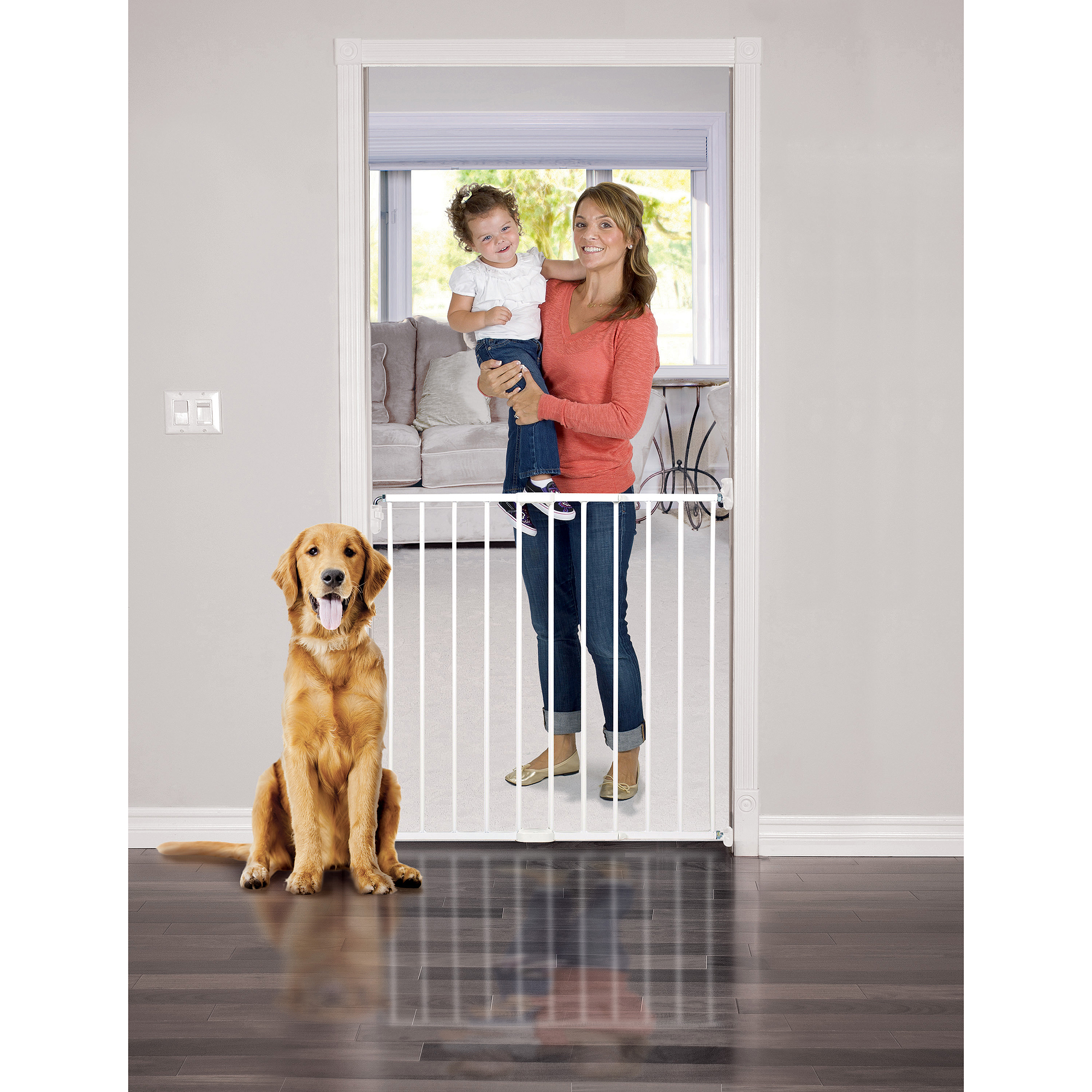 "Baby Trend Extra Tall Baby Gate, 24.5""-40"" with Swing Door and Safety Lock"