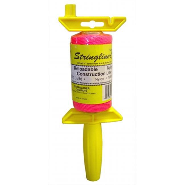 Stringliner . 1 Twisted Pink Nylon Pro Reel Reloadable Construction Line 2500