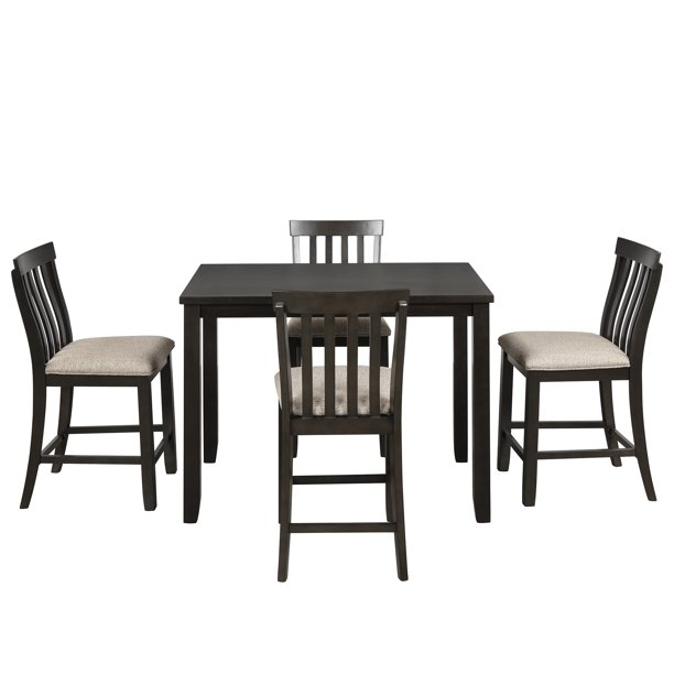 Dining Room Dining Table Sets for 5, Vintage Wood Rectangular