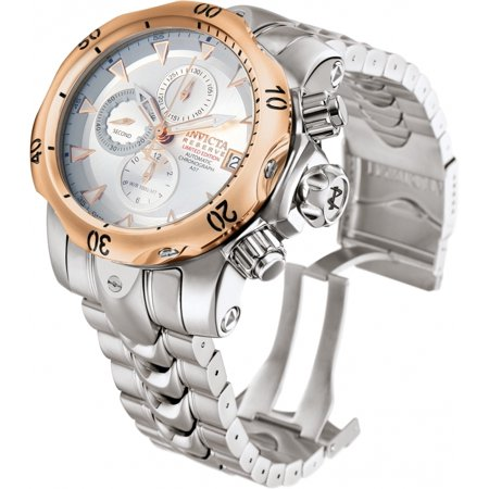 Invicta Automatic Watches - Invicta Mens Reserve Venom Limited A07 Valgranges Automatic 18k Rose Gold Bezel Watch 10171