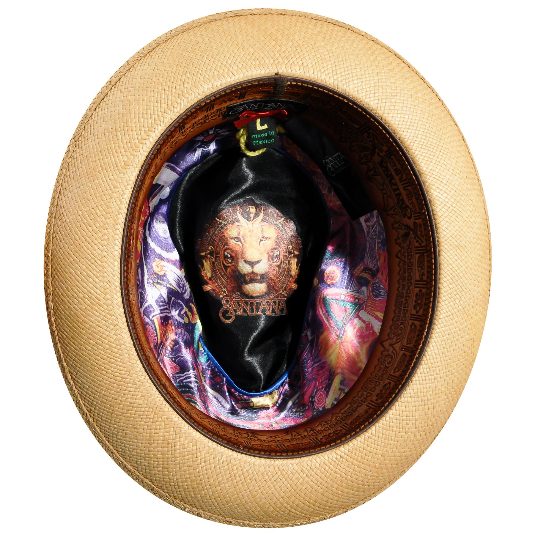 eb852317f2617 Santana - Carlos Headwear Sacred Fire Panama Hat W Heart Logo   Pin Size  Small - Walmart.com
