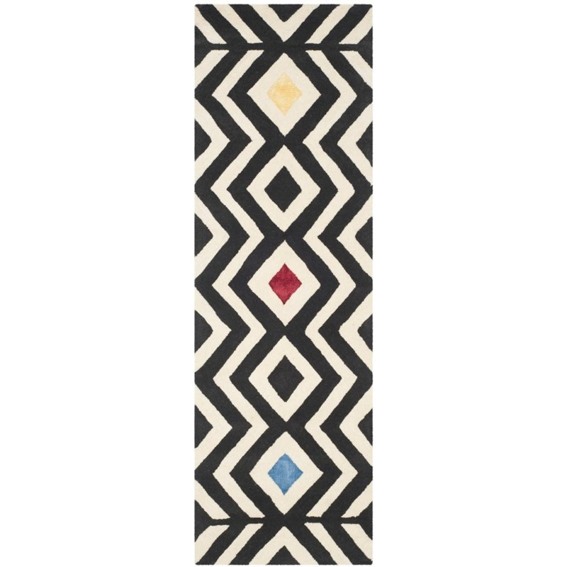 "Safavieh Soho 7'6"" X 9'6"" Hand Tufted Wool Rug in Beige and Charcoal - image 5 de 10"