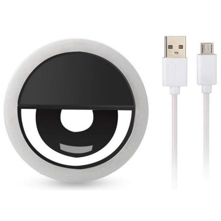 Clip on Selfie Ring Light [Rechargeable Battery] with 36 LED For Smart Phone Camera Round Shape, Black - image 3 of 3