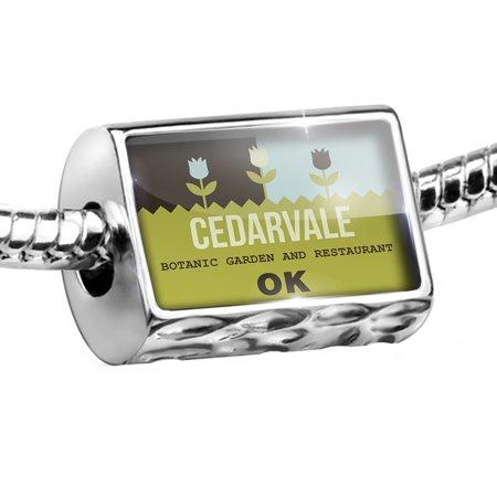 Cedarvale Bar - Bead US Gardens Cedarvale Botanic Garden and Restaurant - OK Charm Fits All European Bracelets