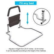 Safety Bed Rails for Elderly Hospital Grade for Adults Seniors, Bed Side Handrail, Senior Adult Handrail for King Queen Twin Size Bed, Handicap Bed Assist Rail ,New Adjustable Height TOP Rail