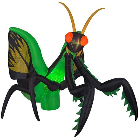 HUGE 10.5 ft. long Halloween Inflatable Projection Kaleidoscope Preying Mantis Yard Decor - Hue Halloween App