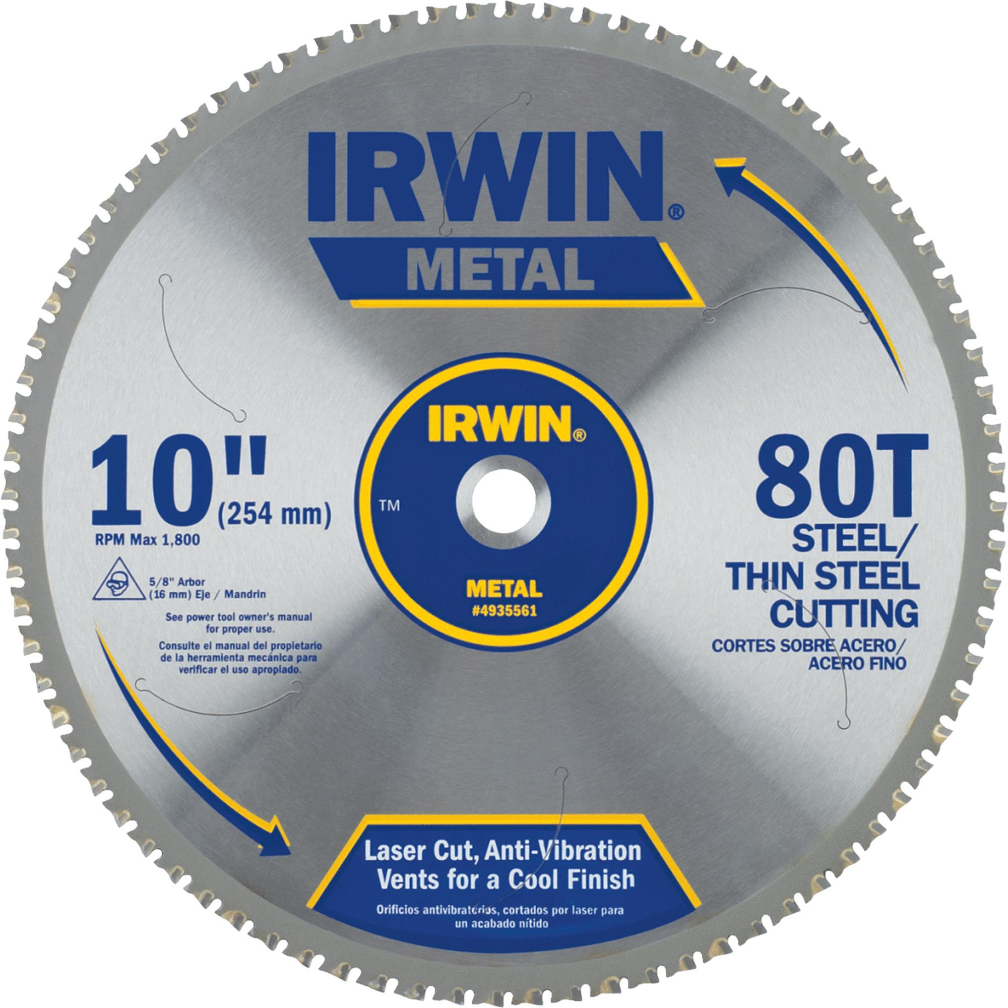 """Irwin 4935561 10"""" 80 Tpi Metal Cutting Circular Saw Blade by Irwin"""