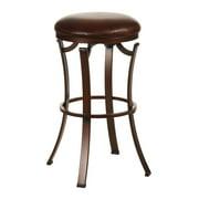 "Hillsdale Furniture Kelford 26"" Backless Swivel Counter Stool, Antique Bronze Finish"