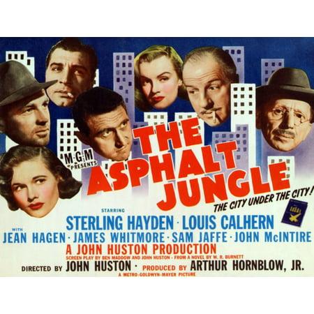 The Asphalt Jungle From Bottom Left Jean Hagen Sterling Hayden Anthony Caruso James Whitmore Marilyn Monroe Louis Calhern Sam Jaffe 1950 Movie Poster Masterprint