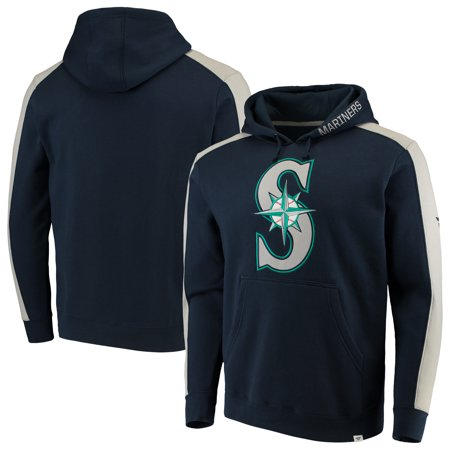 Seattle Mariners Youth Fleece Pullover (Seattle Mariners Fanatics Branded Iconic Fleece Pullover Hoodie - Navy/Gray )