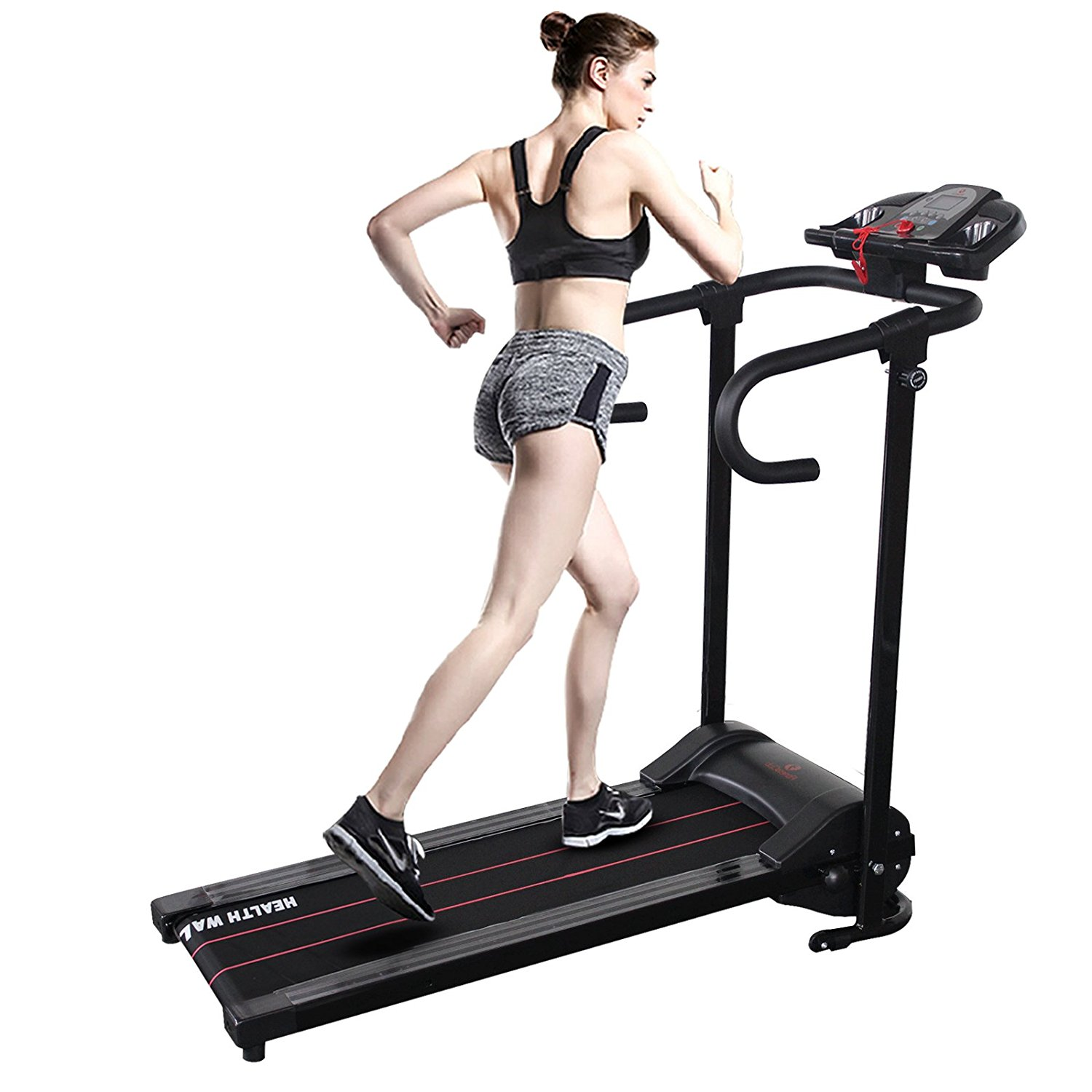 Uenjoy 500W Folding Electric Motorized Treadmill Portable...