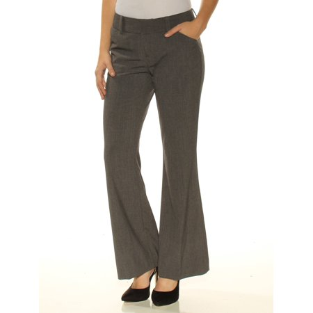 INC Womens Gray Flare Wear To Work Pants Petites  Size: 0