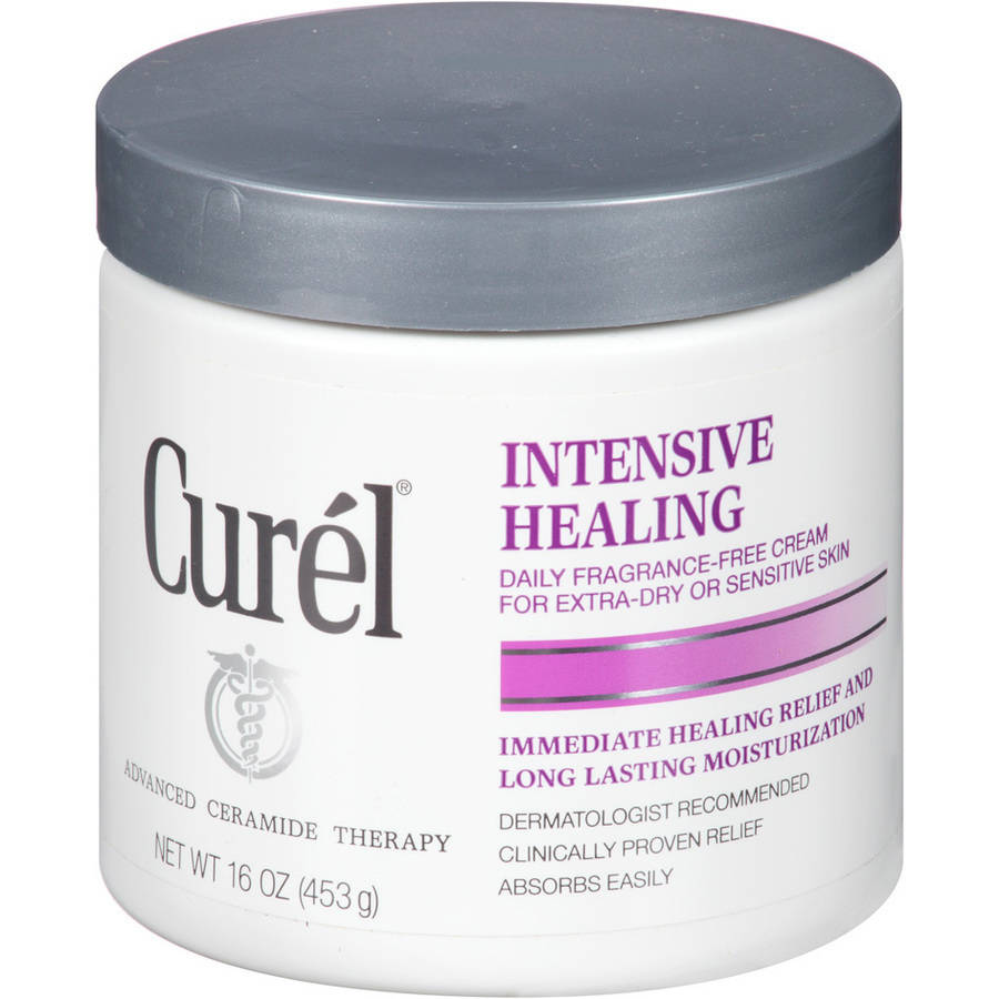 Curel Intensive Healing Daily Fragrance-Free Cream for Extra-Dry or Sensitive Skin, 16 oz