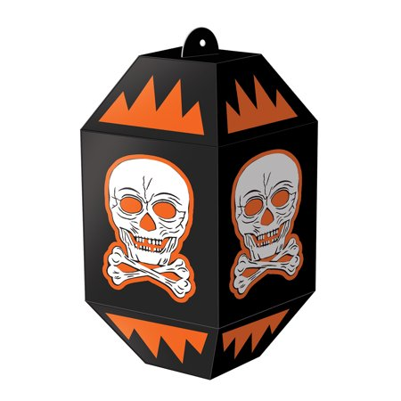 Retro Vintage Halloween Skull Paper Lanterns 7 inches - 3 per pack