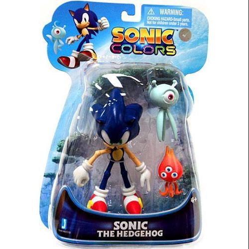 Sonic The Hedgehog Sonic Colors Sonic 6  Action Figure  With Wisps