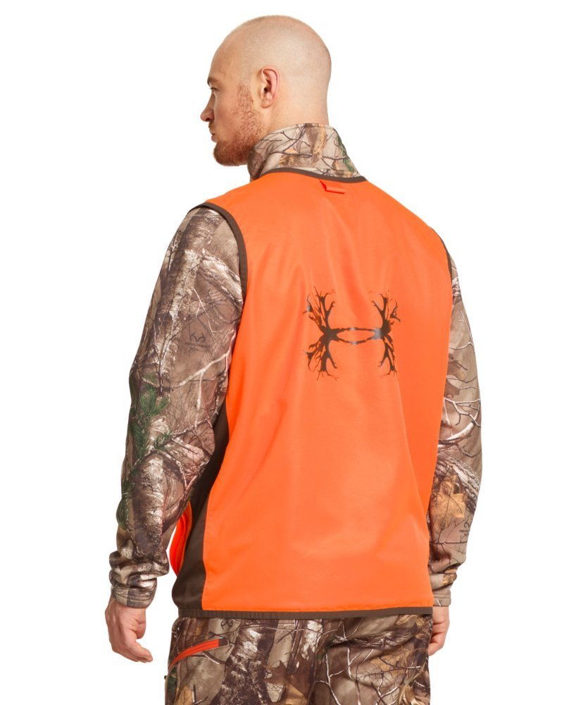 95ab09010cb9c Under Armour Men's Antler Logo Upland Game Hunting Vest - Medium - Blaze  Orange - Walmart.com