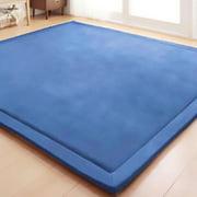 VEVOR Children Crawling Mat 6.5 x 5.9 ft Memory Foam Area Rug Blue Plush Foam Bedroom Mat 2CM Thickness Rug for Crawling Babies