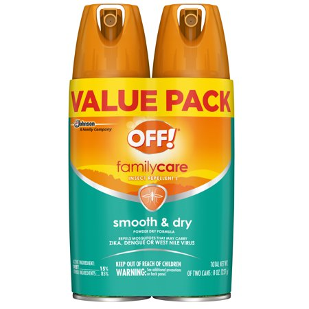 OFF! FamilyCare Insect Repellent I, Smooth & Dry, 4 oz, 2 ct