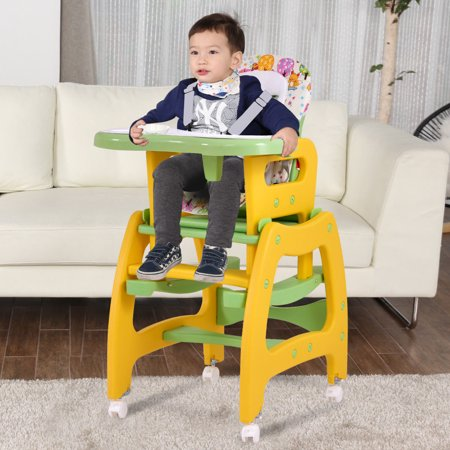 Costway 3 In 1 Baby High Chair Play Table Seat Booster Toddler