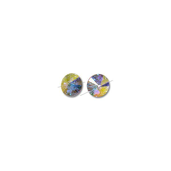 Swarovski Button 3015 16mm Crystal AB (Package of 1)