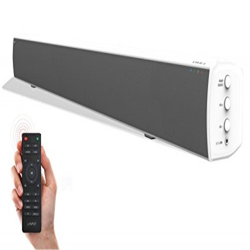 LONPOO 31.5-Inch Soundbar for TV 20W×2 Bluetooth Speakers...