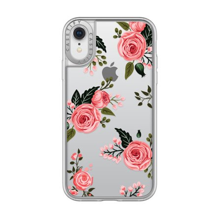 the best attitude 041cc 846b2 Casetify Durable Hardshell Grip Case for Apple iPhone XR - Pink Floral Roses