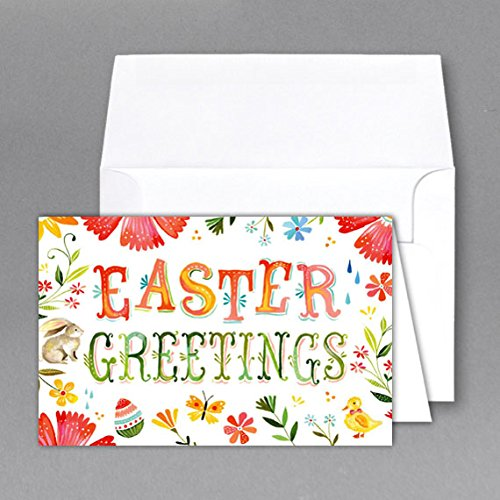 "Jumbo ""Easter Day"" Card & Envelope. Card Size 8.5 X 11 When Open - 5.5 X 8.5 Inches When Folded - Scored for Easy Folding. (2 Per Pack) (B)"