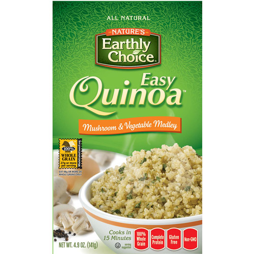 Nature's Earthly Choice Easy Quinoa Mushroom and Vegetable Medley, 4.9 oz