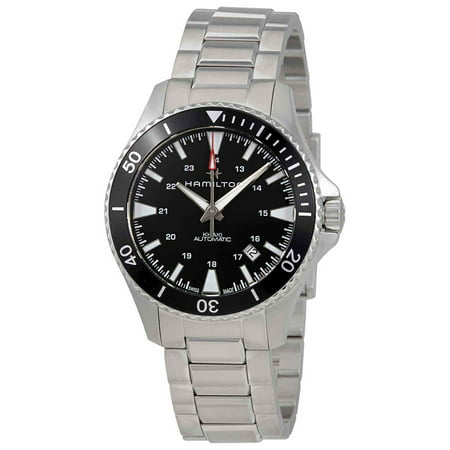 Khaki Navy Automatic Black Dial Mens Watch H82335131