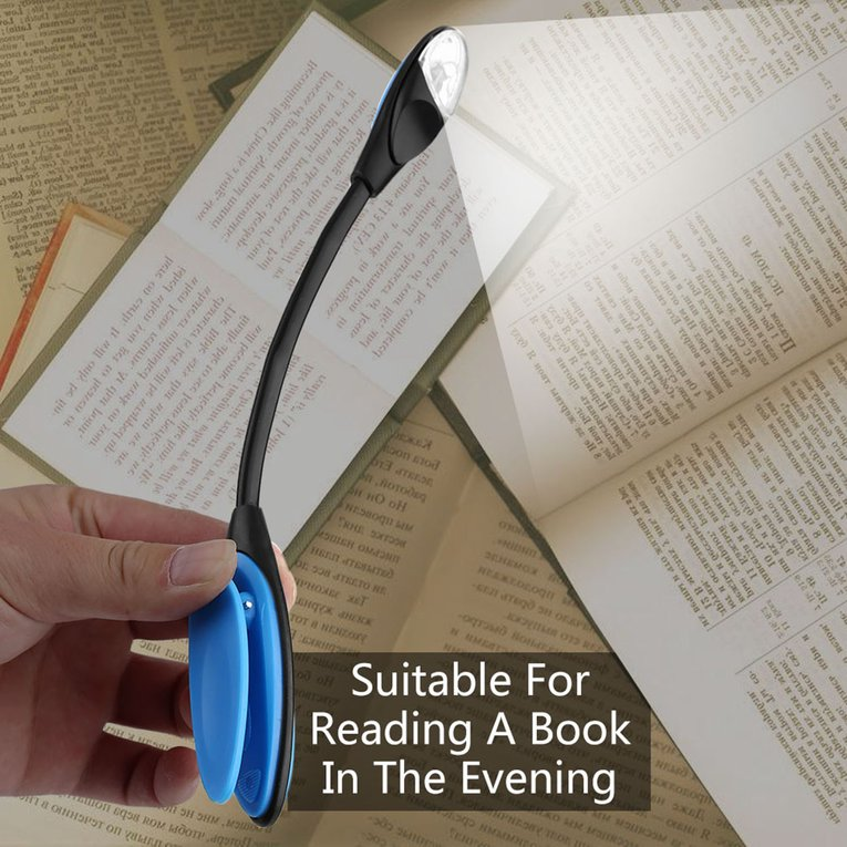 Flexible Double LED Book Reading Light Clip Arm Table Lamp Study Desk Light by