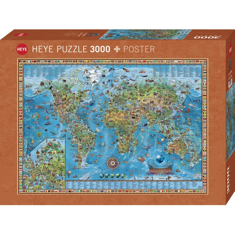 Amazing World 3000 Piece Puzzle,  Maps by Autruche