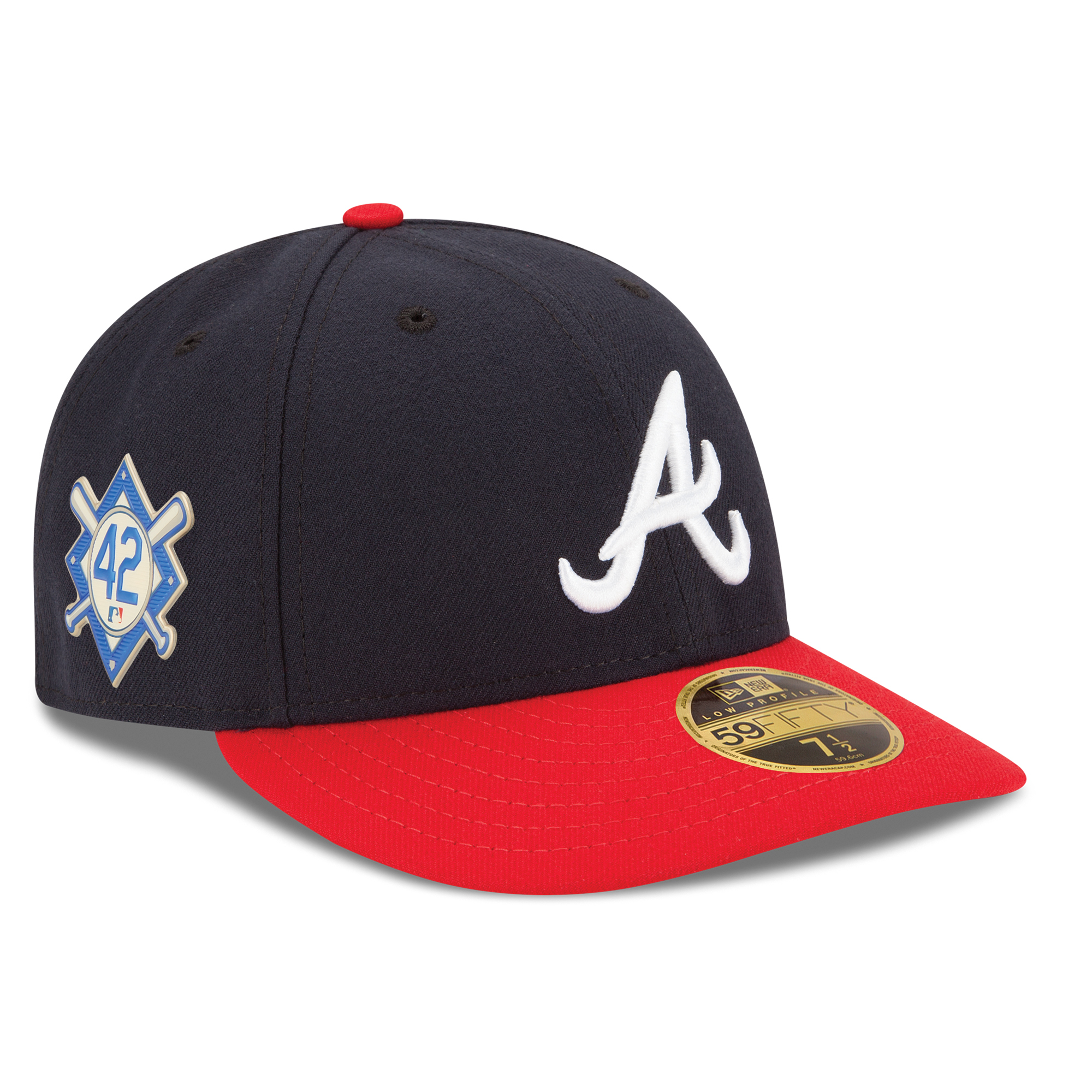 Atlanta Braves New Era 2018 Jackie Robinson Day Low Profile 59FIFTY Fitted Hat - Navy