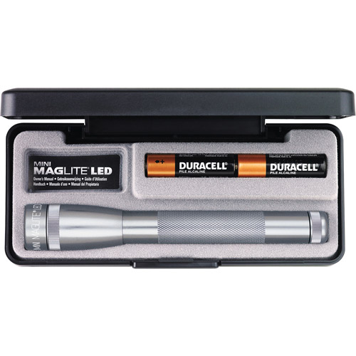 MagLite LED MM 2-Cell AA Flashlight Presentation Box, Gray