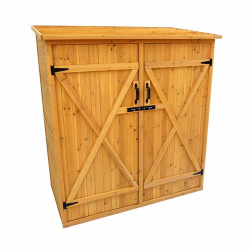 Leisure Season Medium Storage Shed, Medium Brown