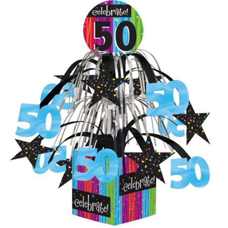 Access Milestone Celebrations 50th Birthday Mini Cascade Centerpiece, 1 Ct](50th Centerpieces)