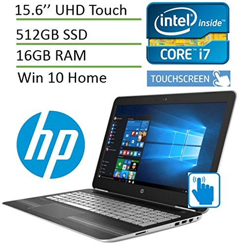 HP Pavilion 15t Gaming Laptop with UHD 4K Touchscreen ( i7 Quad Core, 16GB, NVIDIA GeForce 960M, 512GB SSD, 15.6 Inch UHD (3840 x 2160) Touchscreen, Windows 10) T9Y85AV